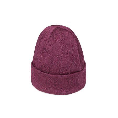 Gucci Strickmütze aus Materialmix