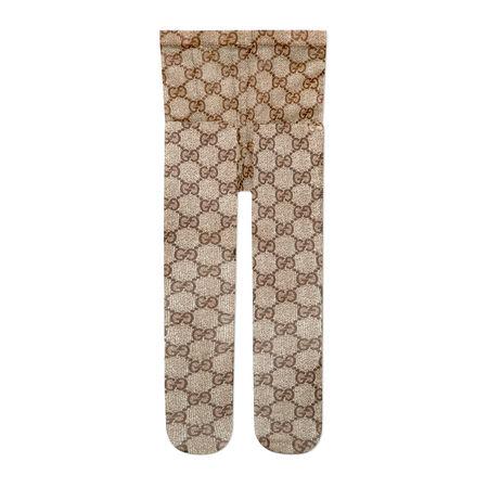 Gucci Strumpfhose mit GGMuster braun