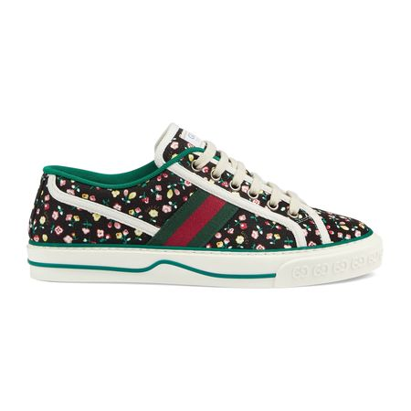 Gucci  Tennis 1977 Damensneaker mit Liberty London-Print beige