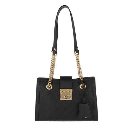 Gucci  Tote  -  GG Padlock Shoulder Bag Small Leather Black  - in schwarz  -  Tote für Damen schwarz