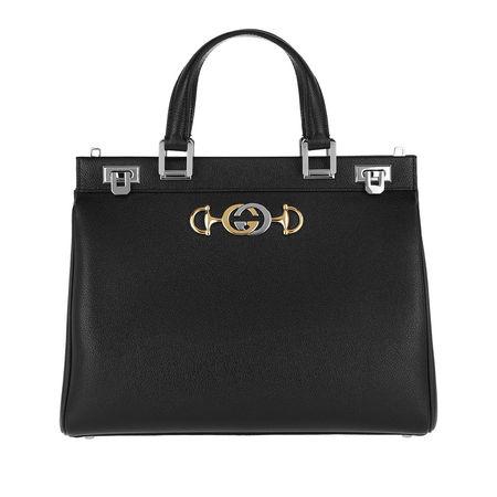 Gucci  Tote  -  Zumi Handle Bag Grainy Leather Black  - in schwarz  -  Tote für Damen schwarz