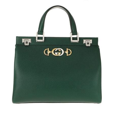 Gucci  Tote  -  Zumi Handle Bag Grainy Leather Vintage Green  - in grün  -  Tote für Damen gruen