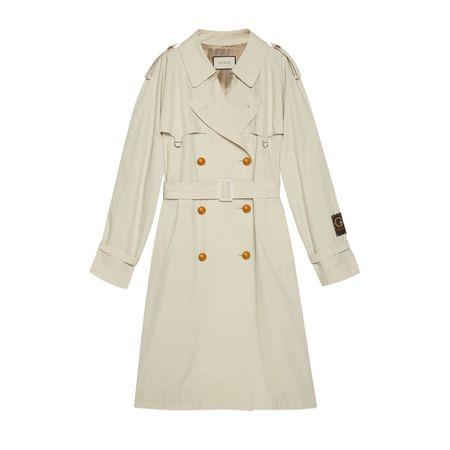 Gucci Trenchcoat aus Baumwolle mit Etikett