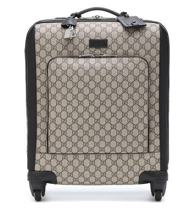 Gucci Trolley aus Canvas und Leder braun