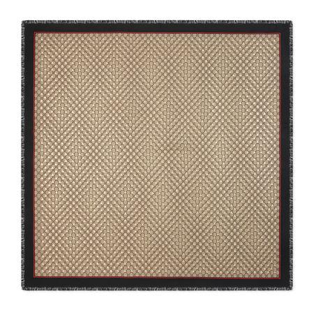 Gucci Tuch aus Modal und Seide mit GGBienen-Motiv braun