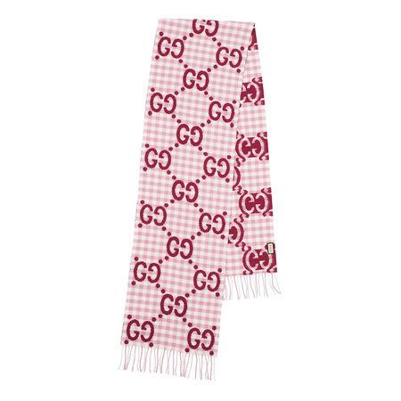 Gucci  Tücher & Schals - GG Jacquard Scarf Wool - in rosa - für Damen