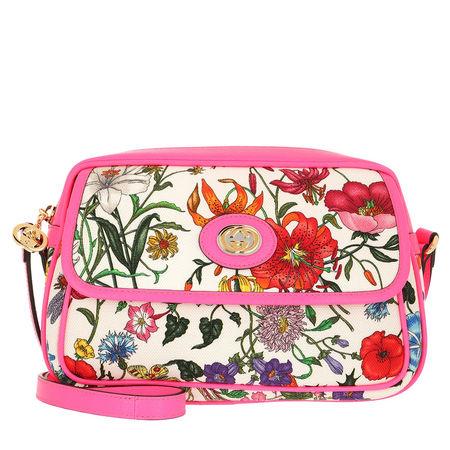 Gucci  Umhängetasche  -  Flora Shoulder Bag Small Pink  - in bunt  -  Umhängetasche für Damen