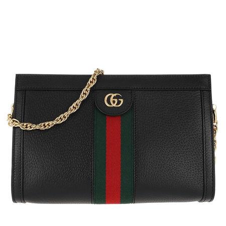Gucci  Umhängetasche  -  Ophidia Small Shoulder Bag Leather Black  - in schwarz  -  Umhängetasche für Damen schwarz