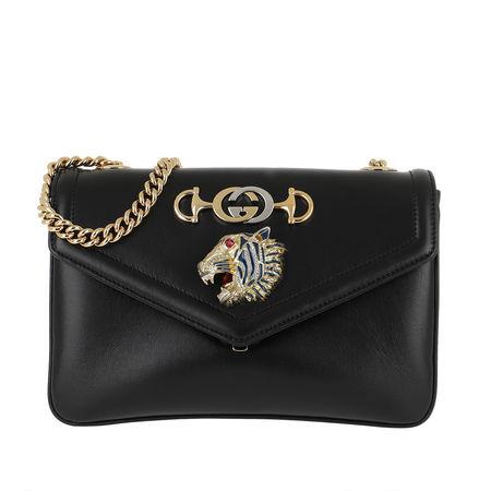 Gucci  Umhängetasche  -  Tiger Head Shoulder Bag Leather Black  - in schwarz  -  Umhängetasche für Damen schwarz