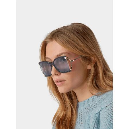 Gucci Unisex Sonnenbrille mit Brand-Details grau