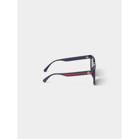 Gucci Unisex Sonnenbrille mit Bügel-Details grau
