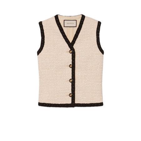 Gucci Weste aus Tweed braun