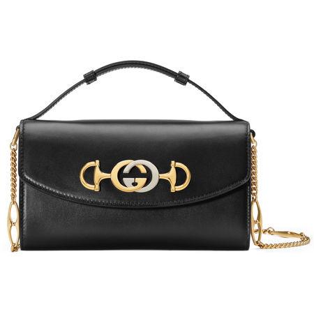 Gucci Zumi Mini-Tasche aus Glattleder schwarz