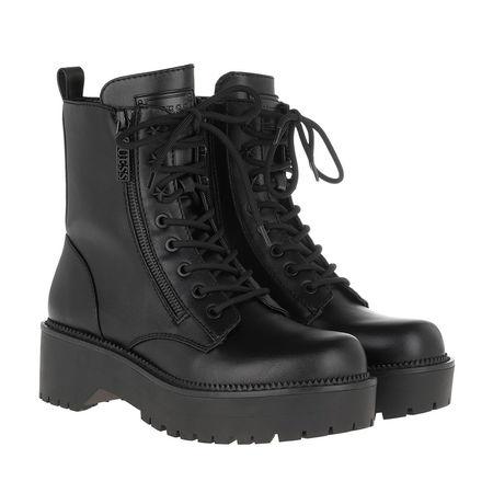 Guess  Boots  -  Tayte Bootie Leather Black  - in schwarz  -  Boots für Damen grau