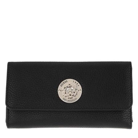 Guess  Portemonnaie  -  Belle Isle Wallet Pocket Trifold Black  - in schwarz  -  Portemonnaie für Damen schwarz