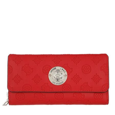 Guess  Portemonnaie - Dayane Large Wallet - in rot - für Damen rot