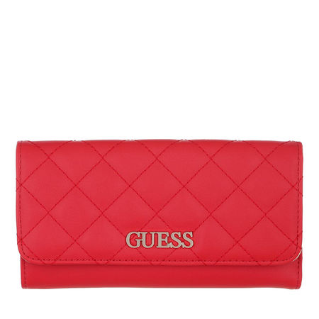 Guess  Portemonnaie - Illy Pocket Trifold Wallet - in rot - für Damen rot
