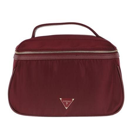 Guess  Reisegepäck - Did I Say 90s Large Beauty Bag - in rot - für Damen braun