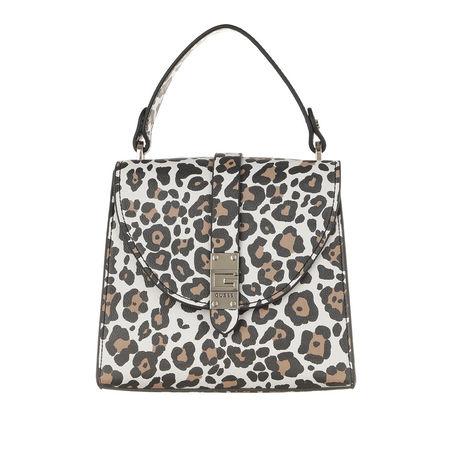Guess  Satchel Bag  -  Nerea Top Handle Flap Leopard  - in bunt  -  Satchel Bag für Damen grau
