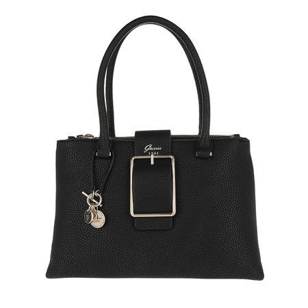 Guess  Tote  -  Caroline Status Satchel Bag Black  - in schwarz  -  Tote für Damen schwarz
