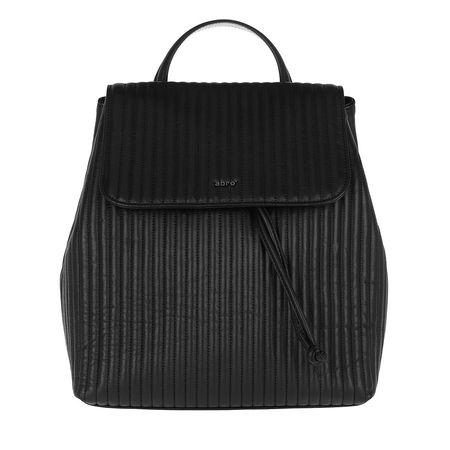 abro  Rucksack  -  Nappa Backpack Black/Guncolor  - in schwarz  -  Rucksack für Damen schwarz