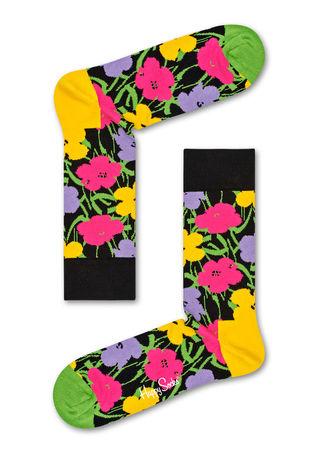 Happy Socks  DE Andy Warhol Flower Socken Unisex schwarz