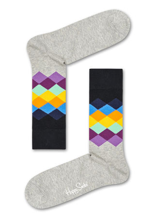 Happy Socks  DE Faded Diamond Socken Unisex braun