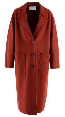 Harris Wharf London  - Mantel aus Wolle rot
