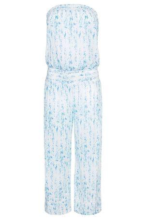 Heidi Klein Milos Smocked Jumpsuit blau