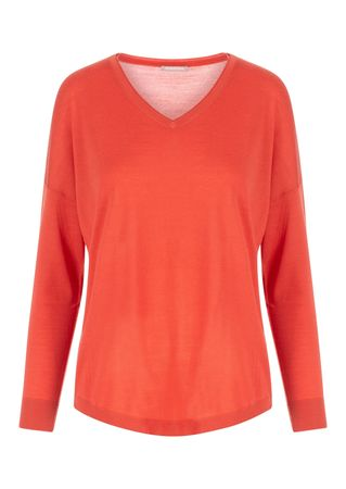 Hemisphere Cashmere Pullover aus Wolle in Rot