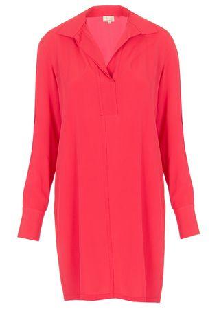Her Shirt Long-Bluse aus Seiden-Mix in Pink rot