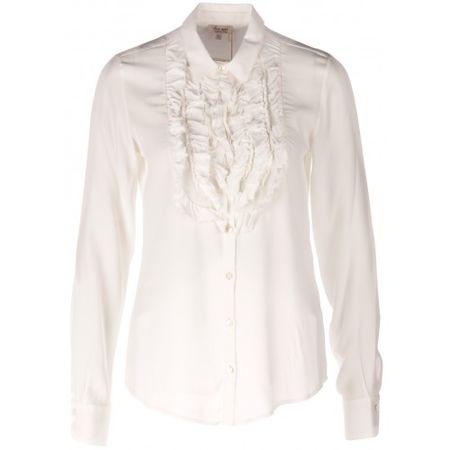 """Her Shirt Seidenbluse """"Jonquil Weiß braun"""