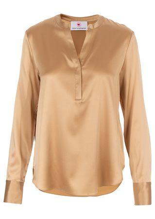 Herzensangelegenheit Bluse aus Seiden-Mix in Braun orange