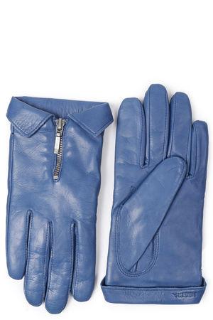 Hestra  Lederhandschuhe Caroline mit Zipper-Detail Mittelblau Damen Farbe: mittelblau verfügbare Größe: 7|7.5|8 blau