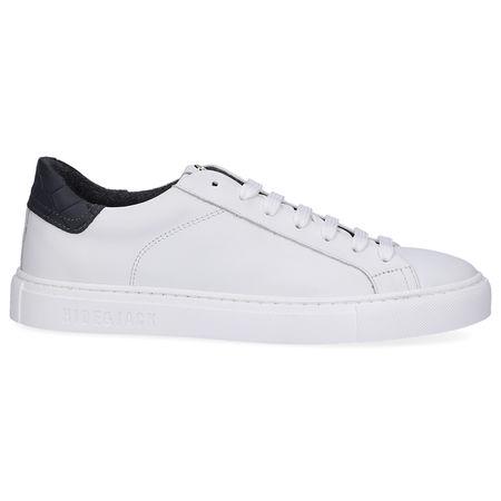 Hide & Jack  Sneaker low LOW TOP SNEAKER  Kalbsleder  Logo weiß grau