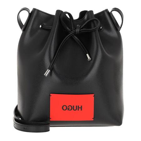 Hugo  Beuteltasche  -  Downtown Drawstring Black  - in schwarz  -  Beuteltasche für Damen schwarz