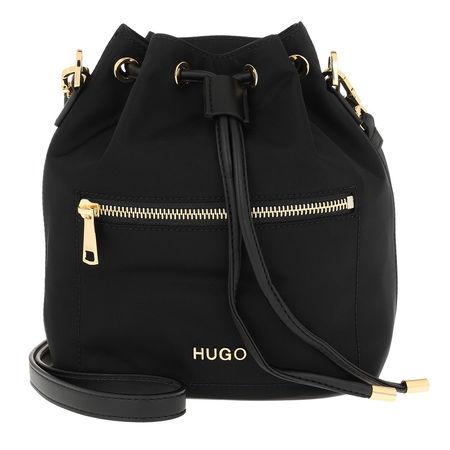 Hugo  Beuteltasche  -  Megan Drawstring Bag Black  - in schwarz  -  Beuteltasche für Damen schwarz