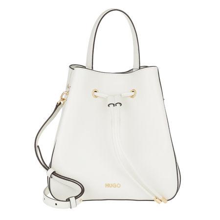 Hugo  Beuteltasche  -  Victoria Drawstring Bag Open White  - in weiß  -  Beuteltasche für Damen grau