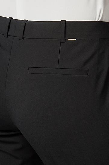 HUGO BOSS Business-Hose aus Stretch-Schurwolle schwarz
