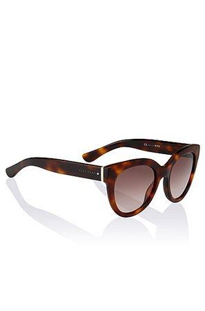 HUGO BOSS Cat-Eye-Sonnenbrille ´BOSS 0675` aus Acetat und Metall grau