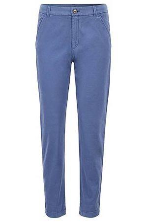 HUGO BOSS Cropped-Chino aus elastischer Baumwolle mit Satin-Finish blau
