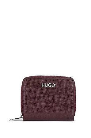 HUGO BOSS Geldbörse aus Saffiano-Leder mit umlaufendem Reißverschluss braun