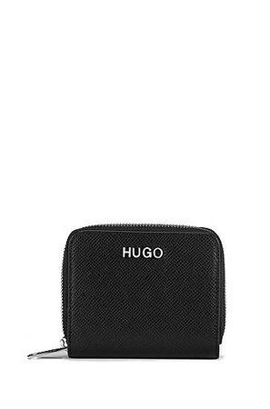 HUGO BOSS Geldbörse aus Saffiano-Leder mit umlaufendem Reißverschluss schwarz