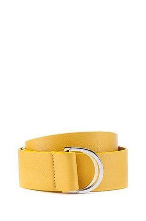 HUGO BOSS Gürtel aus italienischem Leder mit zweifarbigen D-Ringen aus Metall orange
