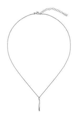 HUGO BOSS Halskette aus Edelstahl mit Twist-Anhänger und Logo-Detail