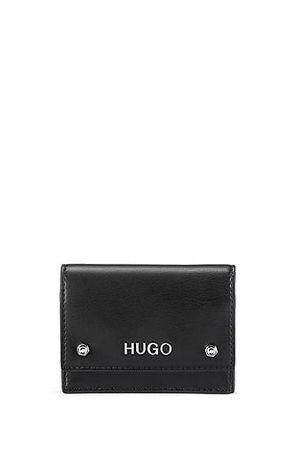 HUGO BOSS Kartenetui aus Kunstleder mit Überschlag und Metalldetails schwarz