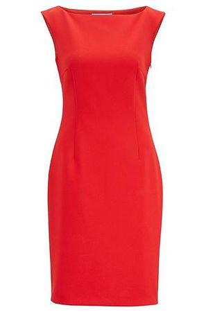 HUGO BOSS Kleid mit Cut-Out am Rücken rot
