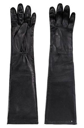 HUGO BOSS Lange Handschuhe aus Nappaleder mit Logo-Nieten schwarz