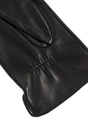 HUGO BOSS Lederhandschuhe mit durchgehendem Innenfutter und Metalldetail