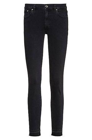 HUGO BOSS LOU Skinny-Fit Jeans aus Stretch-Denim in Cropped-Länge schwarz